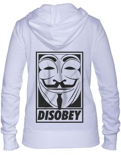 Anonymous Disobey Women's Zip Up Hoodie