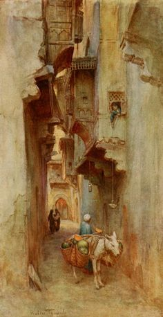 Tyndale, Walter (1855-1943) - An Artist in Egypt 1912, Water-melon seller.