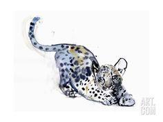 Stretching Cub (Arabian Leopard), 2008 Giclee Print by Mark Adlington at Art.com