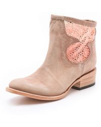 Freebird by Steven | Cabcro Leather Booties with Cutout | Lyst