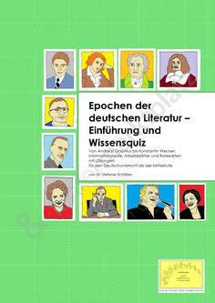 Epochen der deutschen Literatur: Einführung und Wissensquiz. Fach Deutsch.  Find more resources here on lehrermarktplatz.de  #unterrichtsmaterialien  #arbeitsblätter #lehrer #Unterricht #deutsch