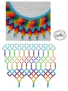 Fotos von Breath of Beads - Fotos Peyote Stitch Patterns, Bead Loom Patterns, Beading Patterns, Diy Necklace Patterns, Beaded Jewelry Patterns, Bead Embroidery Jewelry, Beaded Embroidery, Beaded Crafts, Beaded Collar