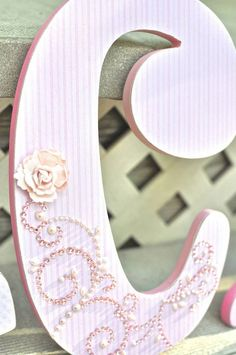 Custom Nursery Letters Baby Decor Pink And Grey Personalized Name Wooden Hanging Wall The Rugged Pearl