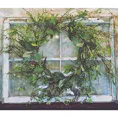 Image result for how to hang old window decor on the wall
