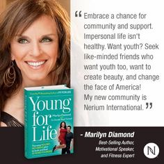 Welcome to the Nerium team MarilynDiamond!!! Co-author of Fit For Life and her newest book, Young For Life. Look your best, 30-day risk free guarantee  #marilynDiamond #skincare #fitforlife #youngforlife #selfcare #beauty