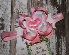 Valentine Heart Headband Baby's First by PinkHairBowBoutique