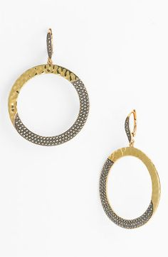 silver + gold matchback to ring...  Judith Jack 'Gold Sea' Frontal Hoop Earrings available at #Nordstrom