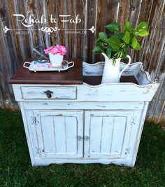 Vintage Dry Sink Done By Rehab To Fab.