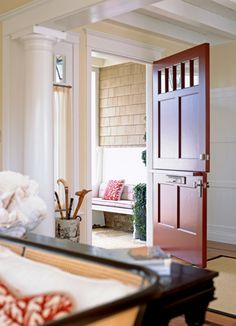 The Best Benjamin Moore Paint Colors. Love the door Dutch door Door Design, House Design, Benjamin Moore Paint, Entry Hall, Door Entry, Entrance, Luxury Interior Design, Interior Paint, Design Interiors