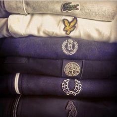 I like how all these polos are very simple, a plain shirt with the companies logo, it's something I want to do with my company.