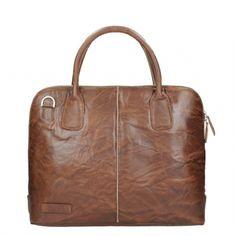 b1f4e08f6ef Plevier Crunch Leather Dames Laptoptas 15.6