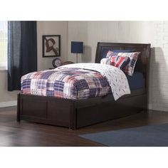 Atlantic Furniture Metro Platform Bed with Flat Panel Foot Board and Twin Size Urban Trundle Bed in, Multiple Colors and Sizes Solid Wood Platform Bed, Full Platform Bed, Under Bed Drawers, Under Bed Storage, Extra Storage, Large Drawers, Modern Headboard, Headboard And Footboard, Trundle Bed Frame