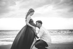 Beach maternity session while trying to outrun the storm in Beaufort South…