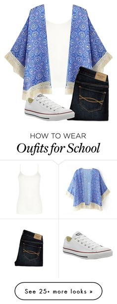 """school"" by alexatesh on Polyvore featuring Oasis, Abercrombie & Fitch and Converse"