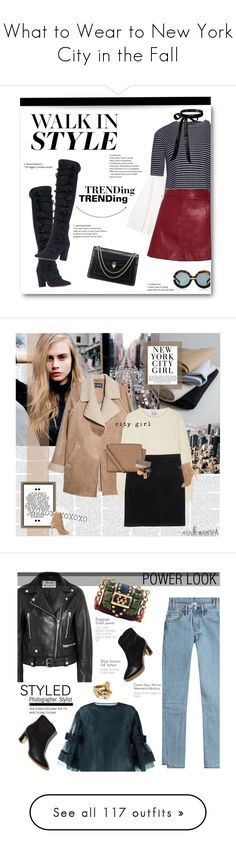 """""""What to Wear to New York City in the Fall"""" by outfitsfortravel ❤ liked on Polyvore featuring Aquazzura, Ganni, Karen Walker, Bulgari, contemporary, Paul Frank, MANGO, Acne Studios, Monki and MICHAEL Michael Kors"""