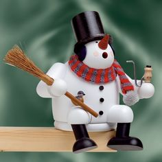 German Smoker Resting Snowman by KWO of Germany