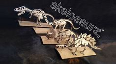 Skelosaurz Leather Fossils of past walk the earth again with your primal skills!  #dinosaurs  #leather #dinos #skeletons #naturaltoys #trex #tyrannosaurus #triceratops #stegosaurus #brontosaurus #dinosaur #prehistoric #paleo #art #fossil #skelosaurz  #diy #kit