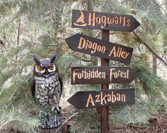 Harry Potter Inspired Olivanders Lawn Ornament Sign - Diagon Alley Wand Shop Fantasy Movie Directional Decoration Cedar Wood Decor I can make other signs and make different combinations or single, double or triple signs. Please send me a message, I would love to work with you. *****Optional Indoor stand available here: https://www.etsy.com/listing/259674345/indoor-stand-for-signs-made-to-order-to?ref=shop_home_active_1 ***** This listing is for one sign and is ...