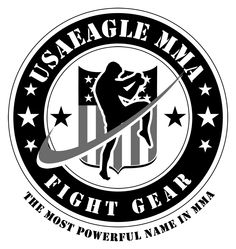 USA Eagle MMA. Retail logo design for Fight Gear. The most powerful name in MMA.