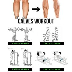 calves workout step by step tutorial