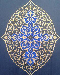 """30 Beğenme, 2 Yorum - Instagram'da Nuran Tütüncü Yildiz (@mihrimah_sanat_atolyesi): """"N.t.y. Cumamiz hayr,hayırlar feth,serler def olsun... insaallah..."""" Islamic Art Pattern, Arabic Pattern, Pattern Art, Illumination Art, Persian Pattern, Arabesque Pattern, Arabic Calligraphy Art, Hip Hop Art, Iranian Art"""