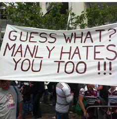 Manly Sea Eagles, NRL, Fans, Banner