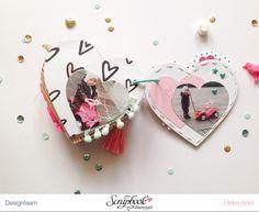 "Mini ""Love You"" mit Crate Paper ""Hello Love"" von Ulrike Dold Mini Scrapbook Albums, Scrapbook Journal, Arts And Crafts, Paper Crafts, Crate Paper, Craft Corner, Valentine Crafts, Book Making, Heart Shapes"