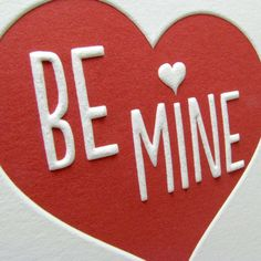 Valentine's Day card embossed red heart by LetterpressLight, $18.00