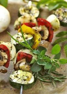 Brochettes de légumes au barbecue