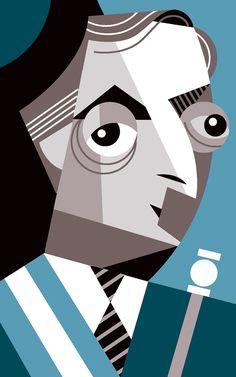 Pablo Lobato [Caricatura Nestor Kirchner presidente argentino]