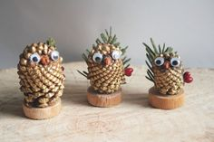 CHRISTMAS CRAFTS from pine cones