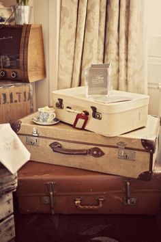 vintage suitcases!!!   Vintage Props & Styling supplied by Mrs Bou, The Boutique Baking Company