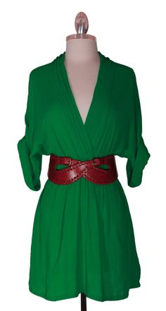 Lean Mean and Green Poppies Dress