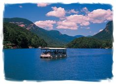 Lake Lure, North Carolina boat tour. See where Dirty Dancing was filmed!