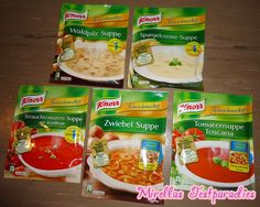 I won five soups from Knorr to test.
