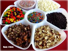 A dip/appetizer tray to hold ice cream toppings. This makes an ice cream party even more fun!