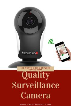 Need to know what's going on when you're not home? This camera is great for watching your pets, kids, or just your house! Ip Security Camera, Security Cameras For Home, Security Alarm, Wireless Video Camera, Nanny Cam, Wireless Home Security Systems, Security Products, Ip Camera, Hidden Camera
