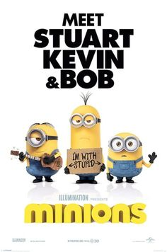 Minions - I'm With Stupid - Official Poster. Official Merchandise. Size: 61cm x 91.5cm. FREE SHIPPING