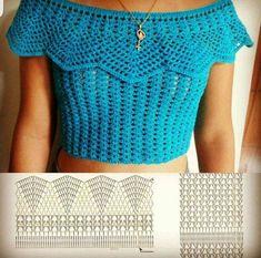 Fabulous Crochet a Little Black Crochet Dress Ideas. Georgeous Crochet a Little Black Crochet Dress Ideas. T-shirt Au Crochet, Beau Crochet, Pull Crochet, Gilet Crochet, Mode Crochet, Crochet Shirt, Crochet Collar, Crochet Crop Top, Crochet Woman
