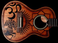 Woodburning - George Harrison Dark Horse Ukelele. Beautiful!