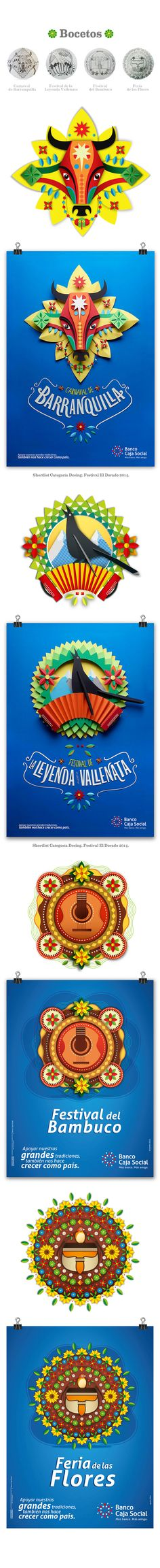Fiestas y Ferias de Colombia BCS on Behance