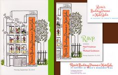 Rosie's Broadway Kids is a program started by Rosie O'Donnell to get children interested in performance arts after school. This suite was for a fundraising Gala. I did the calligraphy and the illustration. Design: I Do Invitations by Sue Coe Designs.