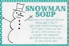 snowman soup with printable