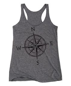 Another great find on #zulily! Gray Compass Racerback Tank #zulilyfinds