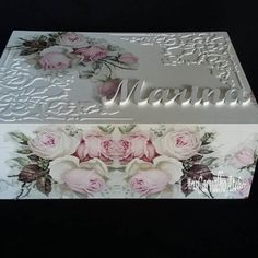 Caixa Marina 1 Decoupage Box, Decoupage Vintage, Altered Cigar Boxes, Buddha Decor, Gift Card Boxes, Shabby Chic Crafts, Resin Art, Wooden Boxes, Flower Decorations