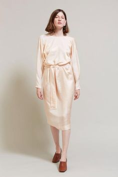 Indress Los Angeles Silk Jacquard Dress in Nude – No.6 Store