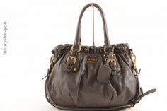 *PRADA* Two-Way Bag in Grau BR4259