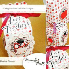 Kit Digital Love Teachers - Corujics by Elisabeth Pimenta em uso na caixinha milk. Fofurice