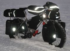 .Winter bicycle touring!! YES