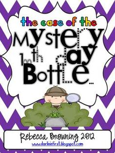 The Case of the Mystery 100th Day Bottle... What an AMAZING activity for upper grades for the 100th day of school!